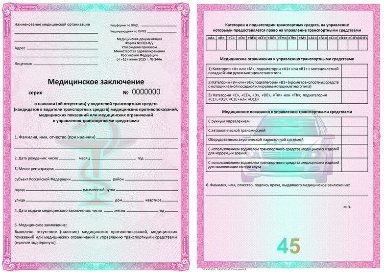 Медицинская справка для гибдд в сзао москвы Медицинская справка для работы на высоте Гольяново